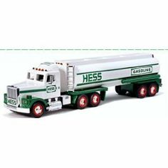 Hess 1990 Collectable Toy Tanker Truck by Hess Corporation. $21.09. HESS TRUCK COLLECTABLE 1990 NEW IN BOX. tOY TANKER WITH DUAL SOUND SWITCH, HORN, AND BACK-UP ALERT,HEAD AND TAIL LIGHTS. BATTERIES PULLED FOR STORAGE