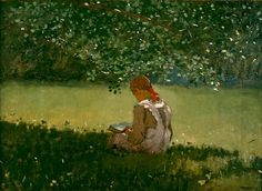Reading By The Brook ~ Winslow Homer ~ (American 1836-1910)
