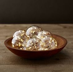 Starry Glass Globe String Lights - Diamond Lights On Silver Wire   Love these - so pretty!!