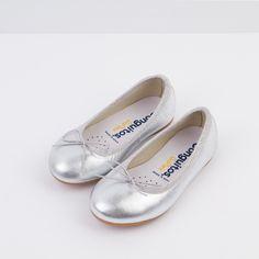 bd733b0bd Bailarinas de Niña Piel Plata - Ballerinas - Footwear - Girl - Conguitos  Zapatos Blancos