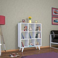 Evdekimoda Cansu Kitaplık - Beyaz