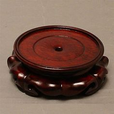 Asian Round Lotus Wooden Stand 55 -- Details can be found by clicking on the image.