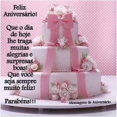 Bolo De Feliz Aniversario Desejo Que Esse Dia Seja De Muitas