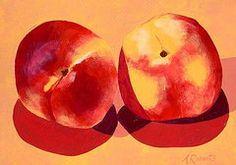 Art - Peaches  by Anna Roberts