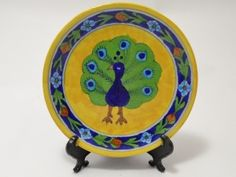 Handmade Blue Pottery Decorative Plate... Only $24.99 ... Hand Painting on this plate makes it a very thoughtful present or buy one to enhance your own home decor...
