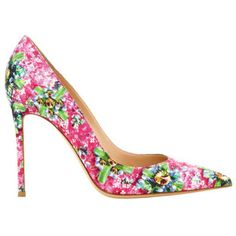 Mary Katrantzou's teams up with Gianvito Rossi to make a killer printed shoe.