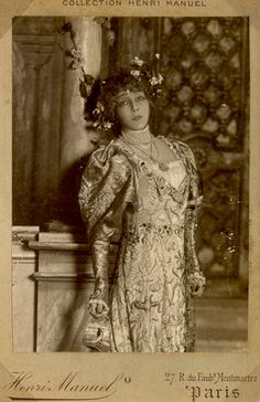 Sarah Bernhardt- I am so enamored with her! She was the first woman to play Hamlet!