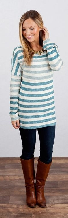 Striped Tunic Sweater! {Jane Deals}