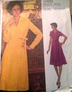 Vogue 1187 Vintage 1970s Americana TEAL TRAINA by SewVintageCo, $18.00  Vogue wrap dress pattern!