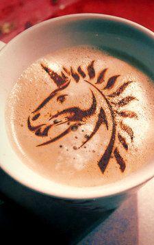 Unicorn Latte Art