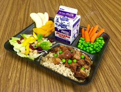 Just one possibility for lunch today at all elementary schools.