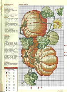 pumpkins cross stitch pattern free