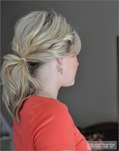 The Small Things Blog: Twisty Ponytail Tutorial http://www.thesmallthingsblog.com/2012/07/twisty-ponytail.html
