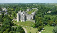 Arundel Castle is a restored medieval castle and stately home in Arundel in West Sussex offering self-guided tours. The Castle dates from approximately 1070 and is one of the most complete remaining British castles Arundel Castle, Castles In England, Castle House, Europe, Medieval Castle, Kirchen, Aerial View, Winchester, Places To See