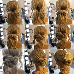 Your bridal hairstyle in Spring doesn't have to be boring, stuffy, or traditional. Instead, they can be fesh, chic and trendy! Do you wanna try now? Bride Hairstyles For Long Hair, Easy To Do Hairstyles, Ponytail Hairstyles Tutorial, Pigtail Hairstyles, Wedding Hairstyles Tutorial, Boho Hairstyles, Bridal Ponytail, Quick Braids, Bridal Hair Tutorial
