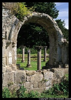 Ruins of Cistercian Jervaulx Abbey, North Yorkshire, England