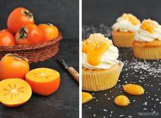 Kokos-Cupcakes mit Kakis
