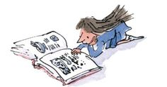 Quentin Blake illustration of Roald Dahl's Matilda Matilda Roald Dahl, Roald Dahl Day, Leo Lionni, I Love Books, My Books, Books To Read, Quentin Blake Illustrations, Book Illustrations, Illustration Art