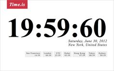 Leap second on Time.is, New York