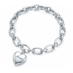Tiffany & Co Mom Heart Charm Bracelet