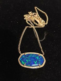 My Kendra Scott Custom Marine Blue Opal DYLAN! $179 by Kendra Scott! Size  for $$179.00. Check it out: http://www.vinted.com/accessories/necklaces/22014527-kendra-scott-custom-marine-blue-opal-dylan-179.