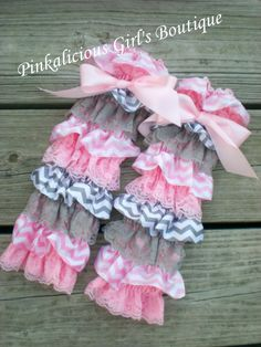 Hey, I found this really awesome Etsy listing at http://www.etsy.com/listing/161299895/girl-baby-pink-gray-chevron-satin-lace