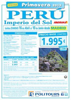 PERÚ Imperio del Sol, salidas del 17/05 al 10/06 desde Madrid (12d/10n) p.f. 2.500€ - http://zocotours.com/peru-imperio-del-sol-salidas-del-1705-al-1006-desde-madrid-12d10n-p-f-2-500e/