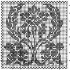 Filet Crochet Charts, Crochet Cross, Crochet Diagram, Knit Or Crochet, Crochet Motif, Crochet Doilies, Crochet Patterns, Cross Stitch Designs, Cross Stitch Patterns