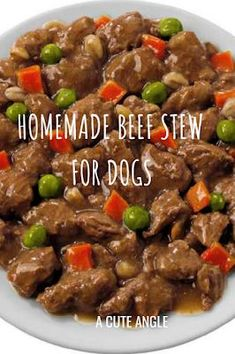 Homemade Beef Stew for Dogs Easy Dog Treat Recipes, Homemade Dog Treats, Healthy Dog Treats, Homemade Food For Dogs, Dog Biscuit Recipes, Dog Food Recipes, Seafood Recipes, Foods Dogs Can Eat, Make Dog Food