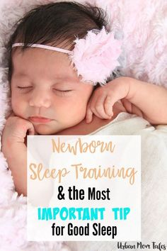 Newborn sleep training tips that you can start right away! Create an easy to follow and effective newborn sleep schedule. Includes the most important baby sleep tip for good sleep to prevent baby sleep problems.