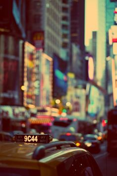 NYC taxi ~ cool play of focus