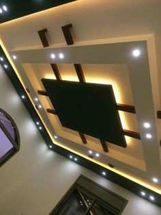 House Ceiling Design, Ceiling Design Living Room, Bedroom False Ceiling Design, Home Ceiling, Modern Ceiling, Living Room Lighting, Living Room Designs, House Design, Kitchen Lighting