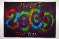 Exploding Numbers - needless to say, you'll need to do 2013 - Also really cute technique for firework art. January Art, January Crafts, January Calendar, School Calendar, New Year's Eve Crafts, Holiday Crafts, Preschool Crafts, Crafts For Kids, Craft Kids