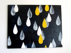 Raindrops...oh...a shameless plug for my paintings, can't help it! Original painting by me, Adriane Duckworth