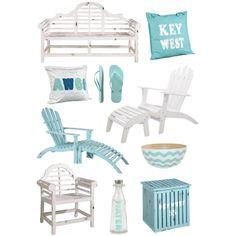 White & Aqua by coastalstyleblogspot, via Polyvore