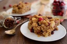 Cranberry apple baked oatmeal makes the perfect Christmas breakfast that your family will love. Easy to make. Vegan.