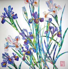 Japanese Irises. Art by Sofía Perina Miller