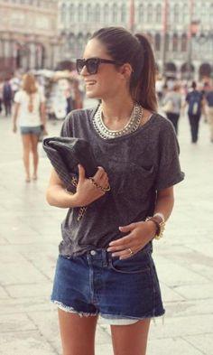 Look T-Shirt + Maxi Colar