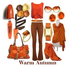 Warm Autumn by prettyyourworld on Polyvore featuring Rebecca Minkoff, Balmain, Frye, Tamir, Tory Burch, Oliver Peoples, NOVICA, Lauren Ralph Lauren, Burberry and Rimmel