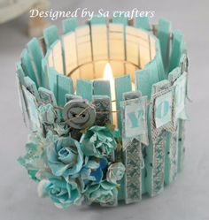 altered tin can with clothes pins, Recycled Tin Can Craft Ideas, - Crafting For Holidays Tin Can Crafts, Craft Stick Crafts, Craft Projects, Crafts For Kids, Clothespin Crafts, Craft Ideas, Diy Ideas, Diy Creative Ideas, Fun Diy