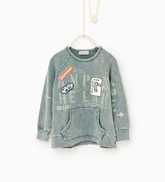 Image 1 of Plush patches sweatshirt from Zara