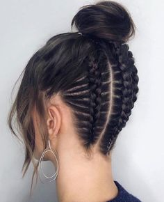 to cornrows braided hairstyles hairstyles twist hairstyles near me hairstyles 2018 little black girl hairstyles for kenyan ladies hairstyles jamaica braid hairstyles hairstyles little girl Braided Ponytail Hairstyles, Braided Hairstyles, Cool Hairstyles, Hairstyle Ideas, Braided Updo, 5 Braid, Quiff Hairstyles, Visage Plus Mince, Dyed Hair