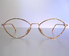 499eb10188a Unworn BLUE BAY Decorated Ornate Delicate Gold   Tortoise Ladies  Women s  Classic Slight Cat Eye Eyeglass Frames NOS Old Stock New 51 16 135