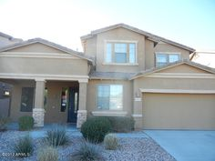 Go See Today! Upgraded large 5 bd, 3 ba plus den & loft home w/all Anthem amenities. Master/guest bedroom/den on main floor. Covered front patio, soaring ceilings, open wood/metal staircase, open floor plan, arches,niches, central vac. Fireplace in living/dining room. Convenient kitchen w/island/breakfast bar, breakfast nook open to family room w/built-in entertainment niches. See more @ www.DesertRealtyGroup.com #realestate #anthem #anthemparkside  #arizona Listed at $274,900