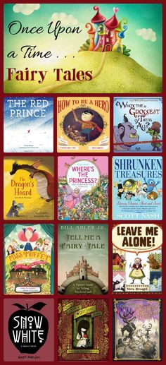 A Collection of Fairy Tales (Old & New) for Kids List Of Fairy Tales, Fairy Tales Unit, Fairy Tales For Kids, Library Themes, Library Displays, Library Ideas, Fractured Fairy Tales, Fairy Tale Theme, Book Reviews For Kids