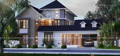 CREO HOMES is Kochi's top leading architects in Kerala with the best team of professional interior and architecture designers who understand the client's needs and aspirations. We aim to provide aesthetically appealing interior designs and architects. House Balcony Design, Kerala House Design, House Front Design, Roof Design, Classic House Design, Modern House Design, Modern Houses, Architect Design House, Architecture Design