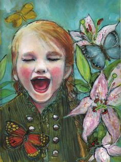 "Joy- Fine 12""x16"" Art Reproduction  by Maria Pace-Wynters"