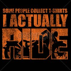 Biker Tshirt Some People Collect T-Shirts I Actually Ride Bike Chopper Route 66 #Unbranded #GraphicTee