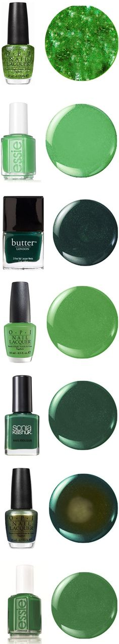 Some great green Nail Polish Green Nail Polish, Green Nails, Nail Polish Colors, Nail Polishes, Love Nails, How To Do Nails, Fun Nails, Sparkle Nails, Summer Makeup Looks