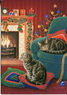 Vintage Paper Magic Christmas card by julia pewsey
